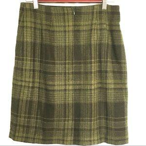 Savannah A-Line Skirt Wool Blend Plaid Lined 10P